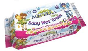 Aquella Kids Baby Vitamin nedves törlőkendő 72db 30205671