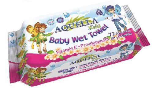 Aquella Kids Baby Vitamin nedves törlőkendő (72db)