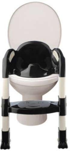Thermobaby lépcsős wc-szűkítő Kiddyloo (fekete-fehér)
