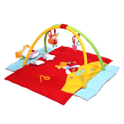 BabyOno játszószőnyeg felhajtható oldalakkal (110x110cm) bohóc