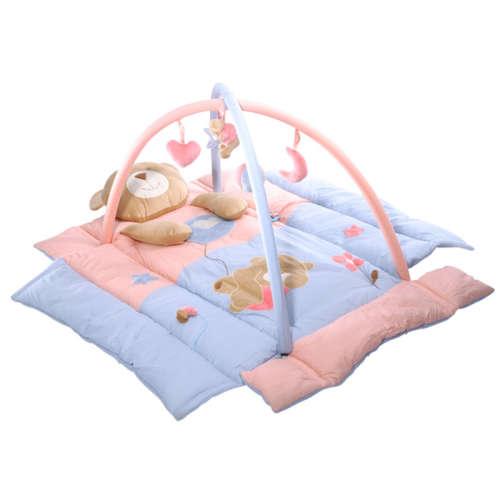 BabyOno játszószőnyeg felhajtható oldalakkal (110x110cm) maci