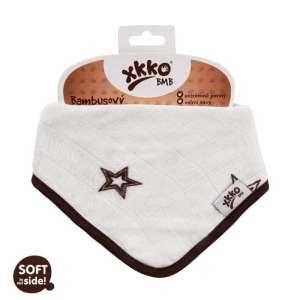 XKKO Bambusz Nyálkendő patentos #barna csillagok 30206074