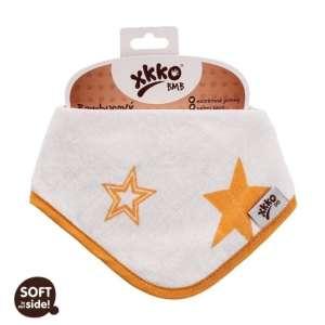 Xkko Bambusz patentos Nyálkendő - Csillag #narancssárga 30206096 Nyálkendő