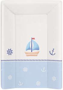 Ceba 3 oldalú merev Pelenkázó lap 50x70cm - Hajó #kék