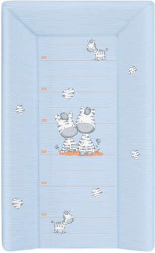 Ceba Pelenkázó Lap merev 3 oldalú 50x80cm - zebra #kék