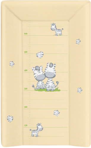 Ceba Pelenkázó Lap merev 3 oldalú 50x80cm - zebra #sárga