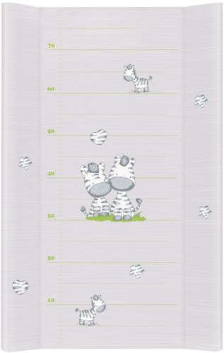 Ceba pelenkázó lap puha 2 oldalú (50x80cm) - Zebra (szürke)
