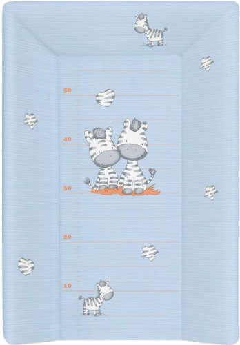 Ceba pelenkázó lap puha 3 oldalú (50x70cm) - Zebra (kék)