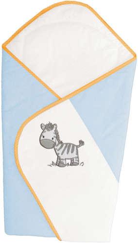 Ceba pólyatakaró 78x78cm - Zebra kék