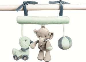 Nattou Felakasztható játék - Elefánt #szürke 30206240 Babakocsi, kiságy játék