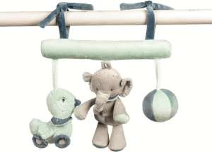 Nattou Plüss trapéz Jack Jules & Nestor elefánt  30206240 Babakocsi, kiságy játék