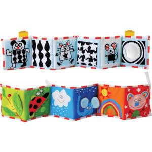 Taf Toys puha bébikönyv Pram book 30206250 Textil könyv gyerekeknek
