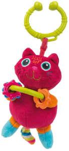 Oops Felakasztható csörgő játék - Cica #rózsaszín 30206317 Babakocsi, kiságy játék