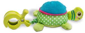 Oops Csipeszes vibráló babajáték - Cookie - teknős 30206321 Babakocsi, kiságy játék