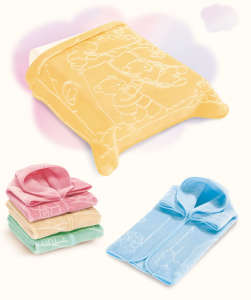 Belpla Baby Sac babazsákká alakítható Takaró 80x90cm #sárga 30206349