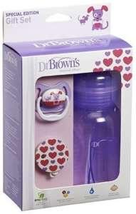 Dr.Browns széles nyakú cumisüveg ajándék szett (lila)