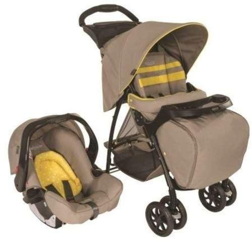 Graco babakocsi Mirage Plus TS tálcával, lábzsákkal (barna-sárga)