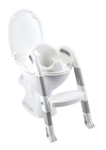 Thermobaby lépcsős wc-szűkítő Kiddyloo #fehér-szürke