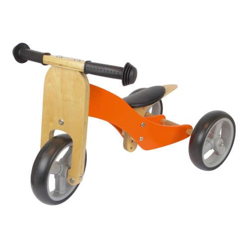 Azet fa kismotor/futóbicikli (narancssárga)
