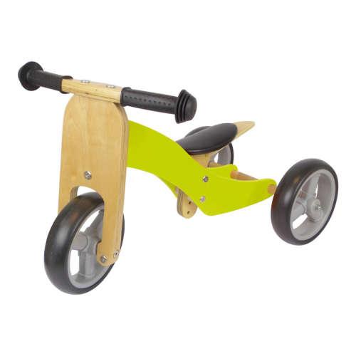 Azet fa kismotor/futóbicikli (zöld)