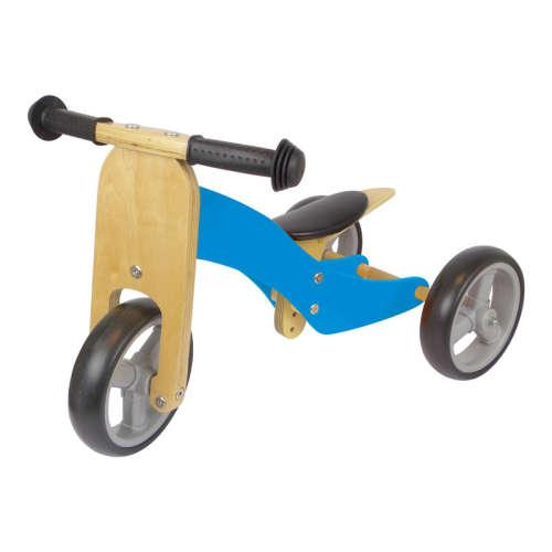 Azet fa kismotor/futóbicikli (kék)