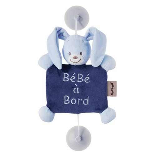 "Nattou Plüss ""Baby on Board"" Alex & Bibou - Bibou, a #nyuszi"