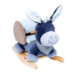 Nattou Plüss Hintázó állatka - Szamár #kék 30206635 Hintaló, hintázó állatka