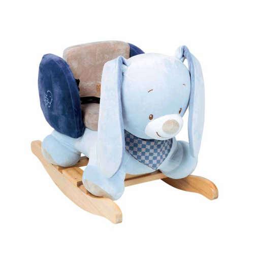 Nattou Hintázó állatka - Bibou a nyuszi #kék