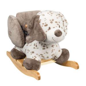 Nattou Plüss Hintázó állatka - Kutya #barna-fehér 30206670 Hintaló, hintázó állatka
