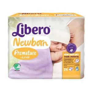 Libero Newborn Premature Pelenka 0-2,5kg 24db - koraszülötteknek