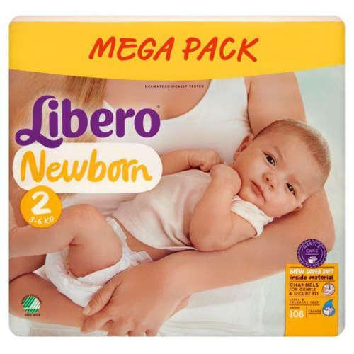 Libero Newborn Pelenka 3-6kg 108db 2