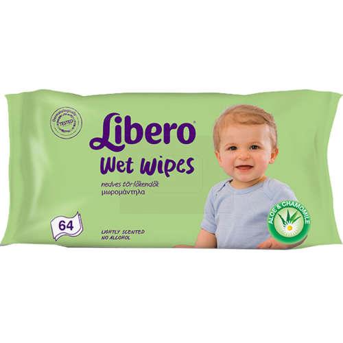 Libero nedves törlőkendő (64db)