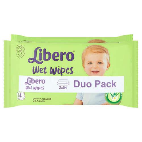 Libero nedves törlőkendő Duo Pack (2x64db)