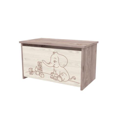 Timba Viki játéktároló láda elefántos (krém-fűz)
