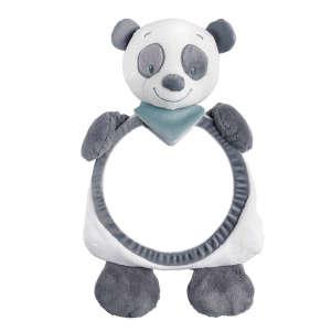 Nattou plüss babafigyelő Tükör - Panda #fehér-szürke 30206873 Kiegészítők utazáshoz