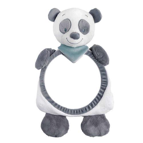 Nattou Plüss Babafigyelő tükör Loulou, Lea & Hyppolite panda figura