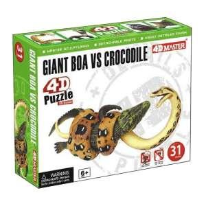 3D Puzzle - Óriáskígyó vs krokodil