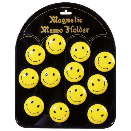 Mágneses jegyzettartó Hűtőmágnes - Smile