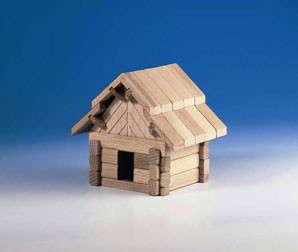 Fa Építőjáték - Házikó 42db 30994128 Fa építőjáték