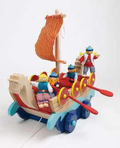 Vikinghajó fából kalózokkal 30994479 Fejlesztő játék bölcsiseknek