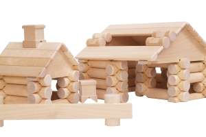 VARIS rönkfa Építőjáték 111db-os