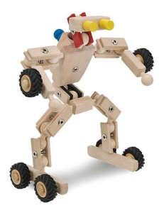 Fa Építőjáték fém csavarokkal - Transzformer 30994243 Fa építőjáték