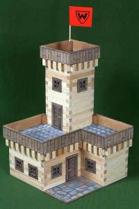 Fa Építőjáték - Nyári kastély 296db 30994103 Fa építőjáték