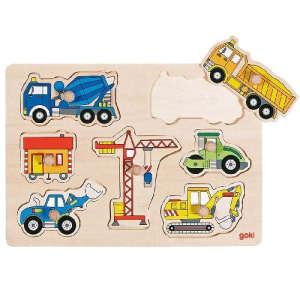 Fa fogós kirakó - Építkezés 30994156 Fejlesztő játék bölcsiseknek