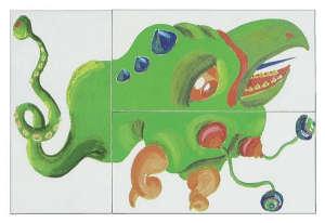 Gyerek Puzzle és dominó 52db - Szörny 30994341 Puzzle gyereknek