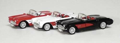 Fém modell autó - Chevrolet Corvette 1957 #fehér