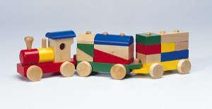 Fa vonat építõelemekkel 30994338 Fa építőjáték