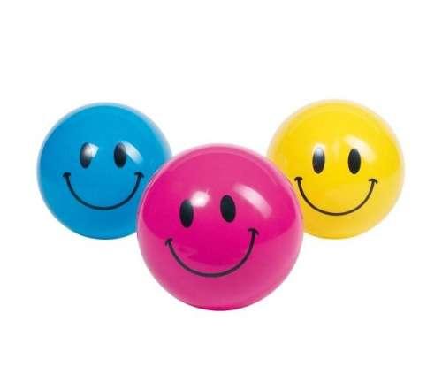 Felfújható gumilabda - Smile, 20 cm