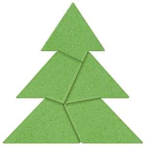 Anker logikai kirakó kőből #fenyőfa tangram