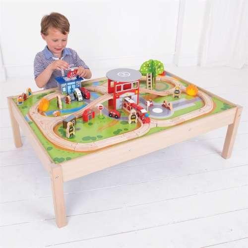 Bigjigs tűzoltó vasúti terepasztal